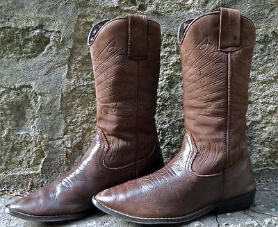 VINTAGE Koala 1960s-70s Original Western Rodeo Leather Cowboy Boots Size 38