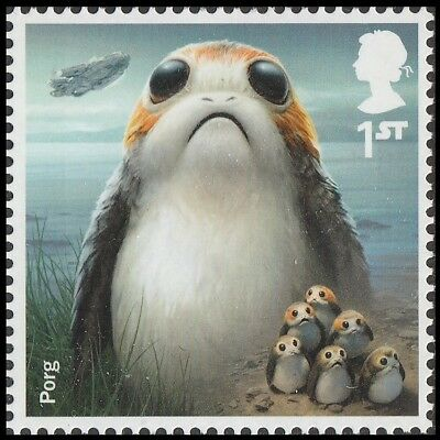 UK Star Wars Characters Porg single (1 stamp) MNH 2017