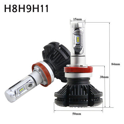 X3 Series H8/H9/H11 LED ZES Chips Headlight Bulb 3000K 6500k 8000K DIY Colors