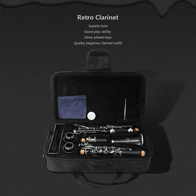 LADE Retro Bb Clarinet Musical Instrument Orchestra Beginners Student With Case