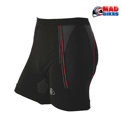 Carbon Energized Boxers Compression Motorcycle Base Layer Under Shorts Black
