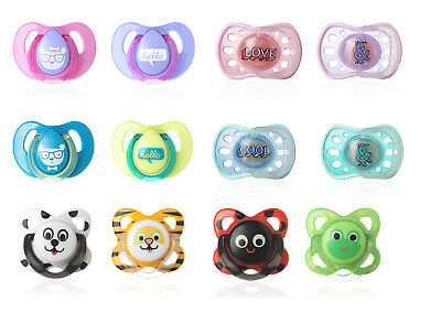 Baby Soother Dummy Pacifier Nipple Tommee Tippee 0-6m or 6-18m 2 Pack Boy Girl