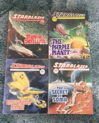 4 X Starblazer Space Fiction Adventure In Pictures,comics,no.10,11,14,16