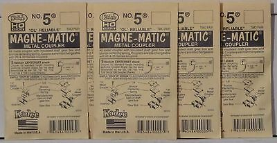 Kadee HO Scale # 5 Metal Knuckle Couplers 2Pr NEW 5Pks