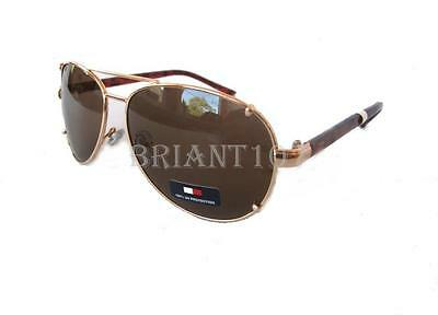 082e29166d7 New TOMMY HILFIGER Unisex Sunglasses Bradshaw WMOL06 Gold Brown  60