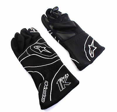 Kart Alpinestars Tech 1-K Karting Gloves Black/White M