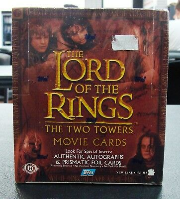 Topps Lord of the Rings The Two Towers Movie Cards Hobby New Factory Sealed Box