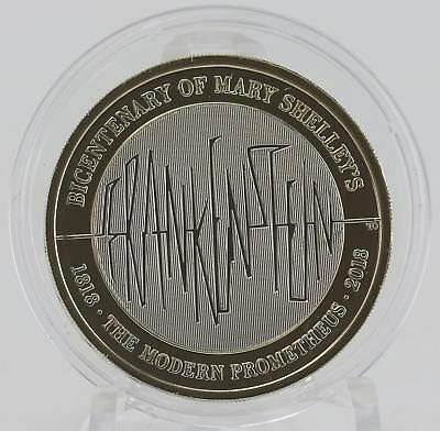2018 Royal Mint Mary Shelley Frankenstein coin BU brilliant uncirculated