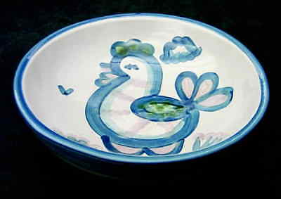 M A Hadley COUNTRY SCENE BLUE Chicken Soup Bowl 5813588