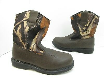 Youth Boys Deer Stags Tour Boot Camo Brown Size 6 M