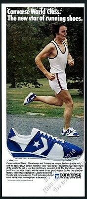 1978 Converse World Class Marathon running shoe runner photo vintage print ad