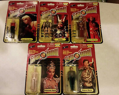 Flash Gordon Movie 5 Action Figure Limited Ed #'d Set out of 1448 NEW! Vultan