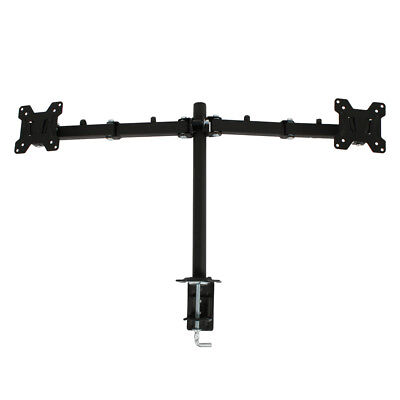 """Dual 2 LCD LED Monitor Table Desk Mount Stand Adjustable Arm 2 Screen up to 27"""""""