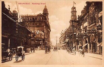 Two Postcards Nanking Road in Shanghai, China~115814