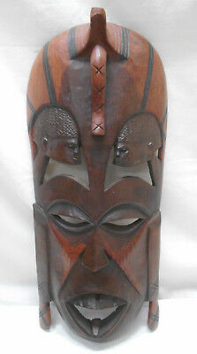Mask Large Wooden Tribal Vintage Hand Made Unique Display African #170