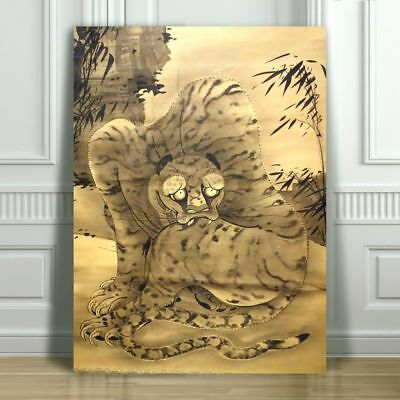 Japanese SOGA SHOHAKU - Tiger - CANVAS ART PRINT POSTER - 12x8""