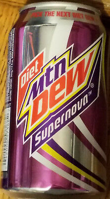 ONE Mountain Dew DIET SUPERNOVA 12 oz Can Limited Edition FULL 2011 Discontinued