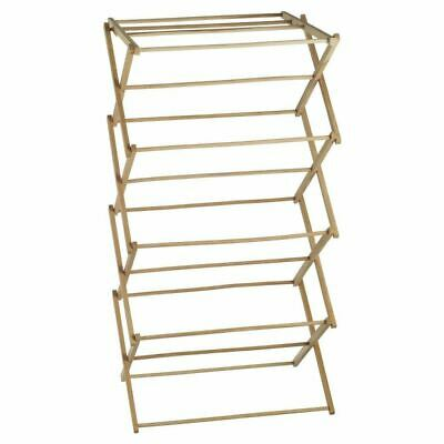 Wooden Clothes Horse Airer Laundry Hanging Folding Dryer Indoor Drying Rack
