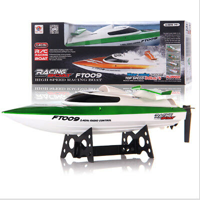FT009 Brushless Racing Boat 2.4G 4CH 30km/h High Speed Water Cooling RC Gifts AU