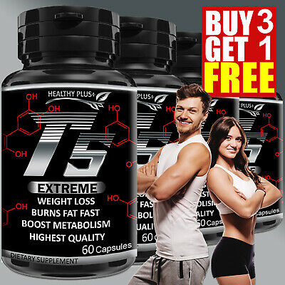 T5 FAT BURNER Capsules GARCINIA CAMBOGIA Extreme Weight Loss Natural Detox Diet