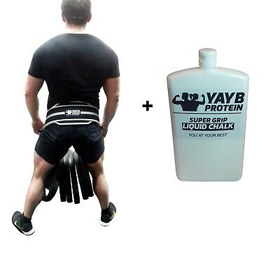 YAYB Pro Dipping Belt-Pull ups+ structural core 120kg+ and 300ml liquid chalk