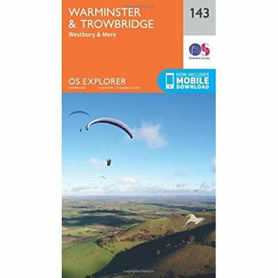 OS Explorer Map (143) Warminster and Trowbridge - Map NEW Ordnance Survey 2015-0
