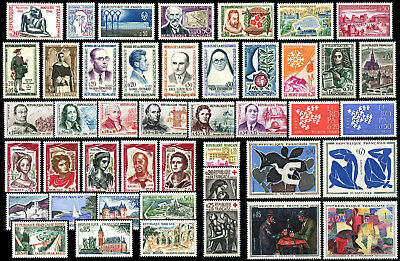 Lot N°7245 France Année complète 1961 Neuf ** LUXE