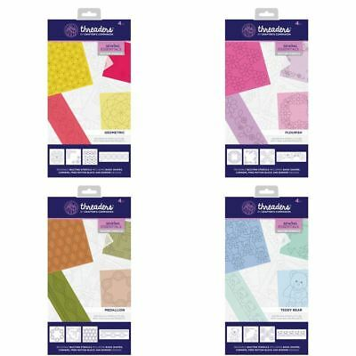 Crafter's Companion Threaders Quilting Template Stencil - x4 Stencil Sets