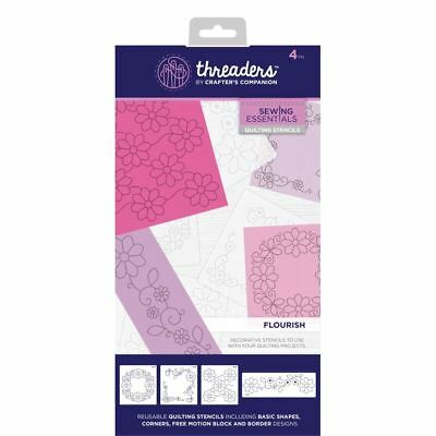 Crafter's Companion Threaders Quilting Template Stencil - Flourish