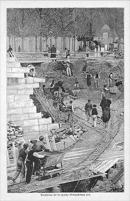 Arbeit Weltausstellung Paris world exhibition 1897  exposition Universelle Stich
