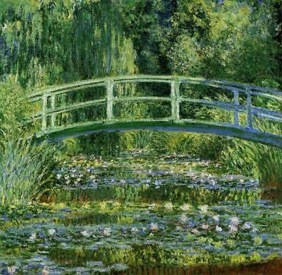 Claude Monet Water-Lily Pond, Giclee Canvas Print