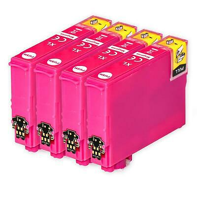4 Magenta Ink Cartridges for Epson Workforce WF-2520NF WF-2630WF WF-2750DWF