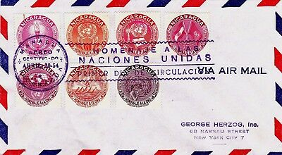 Nicaragua : United Nations First Day Cover (1954)