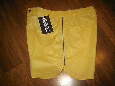 NEW Old Stock Vtg 70s Vanderbilt YELLOW Striped Mens LARGE Tennis Track shorts L