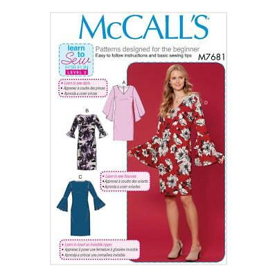 MCCALL\'S SEWING PATTERN MISSES\' LEARN TO SEW FOR FUN DRESSES 6 - 22 ...