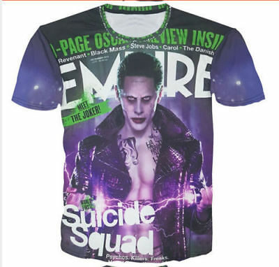 1fd188828199 Suicide Squad Joker Fashion Funny 3D Print T-Shirt Boys Tops Short Sleeve  nf73