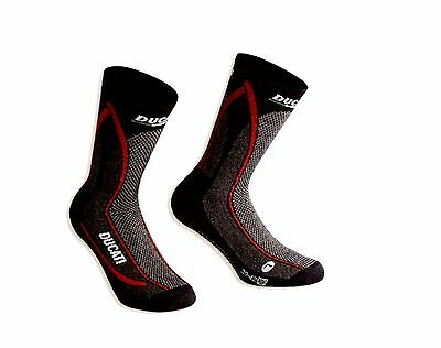Ducati 98103863 Corse Functional Socks Socks Stockings Cool down Schwart-Rot