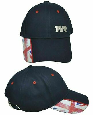 Navy Cotton TVR & Union Jack On The Side Baseball Cap Official Merchandise