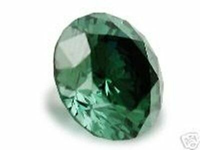 0,144 Cts Natural Loose Round Diamond Si3 Fancy Green 3,26Mm