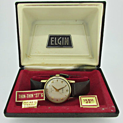 Vintage Elgin Self-Winding 27 Jewels 10k Rolled Gold Plated Watch Parts with Ori