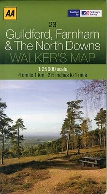 Walkers Map Guildford, Farnham and The North Downs (Map), AA Publ...