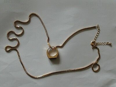Bruno Mars Metal Pinky Ring Necklace With Chain 24K Magic New In Pack Free Post