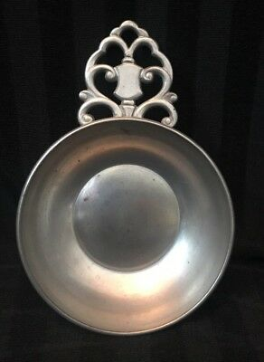 Vintage Royal Holland Kmd Daalderop Pewter Bowl With Handle
