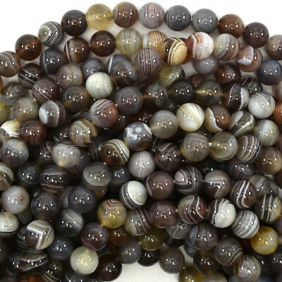 "Natural Botswana Agate Round Beads Gemstone 15.5"" Strand 4mm 6mm 8mm 10mm 12mm"