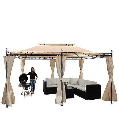 pergola baia garten pavillon 6cm stahl gestell schiebedach 3x3m 4x3m 4x4m eur 214 99. Black Bedroom Furniture Sets. Home Design Ideas