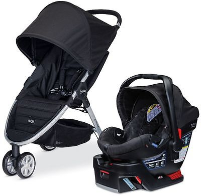 Britax B-AGILE 3 Travel System Stroller w B-SAFE 35 Infant Car Seat 2017