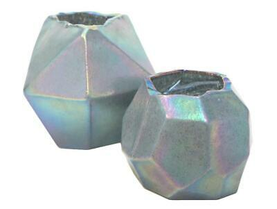 1pce Nihal Glass Vase with Iridescent Glass, Industrial Style