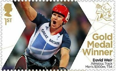 UK ParalympicsGB Gold Medal Winner Single Stamp - David Weir Men's 5000m MNH