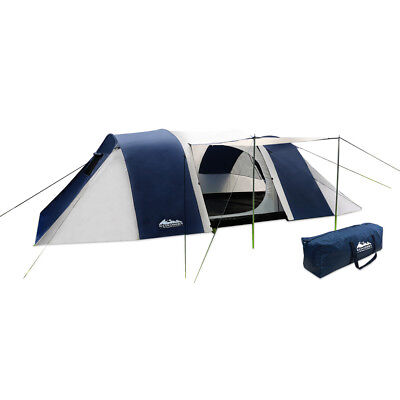 12 Person Family Camping Tent Dome Canvas Swag Hiking Beach 2 Bedrooms AU Stock