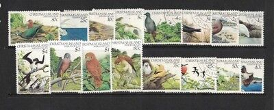 1982 Christmas Island Birds SG 152/67 fine used set
